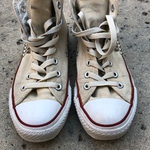 Converse Shoes - Converse All Star ⭐️ Silver Studded